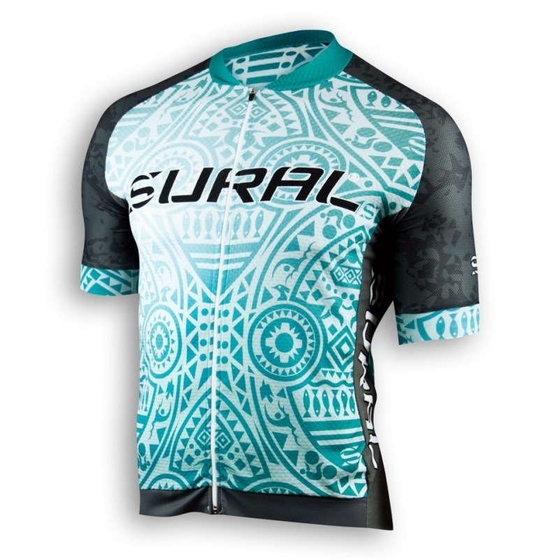 Maillot Sural Windsealer oval Negro-Turq.