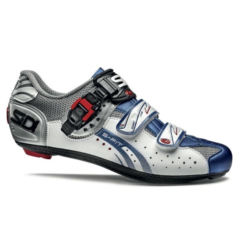 Zapatillas Sidi Genius 5 Fit Plata/Blanco/Azul