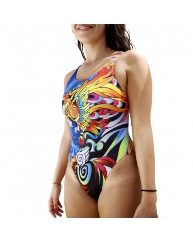 Bañador natación DS TA Manga Lion Mujer