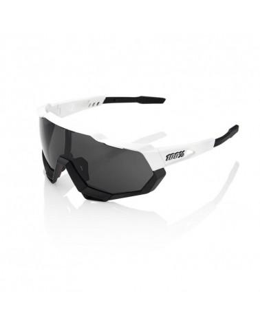 Gafas 100% SPEEDTRAP MATTE BLANCO-NEGRO (LENTE AHUMADA)