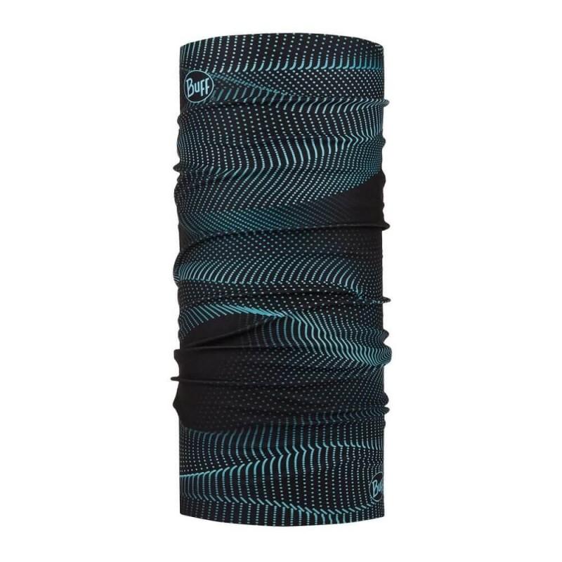 Buff Tubular Multifuncional Original Glow Waves Black