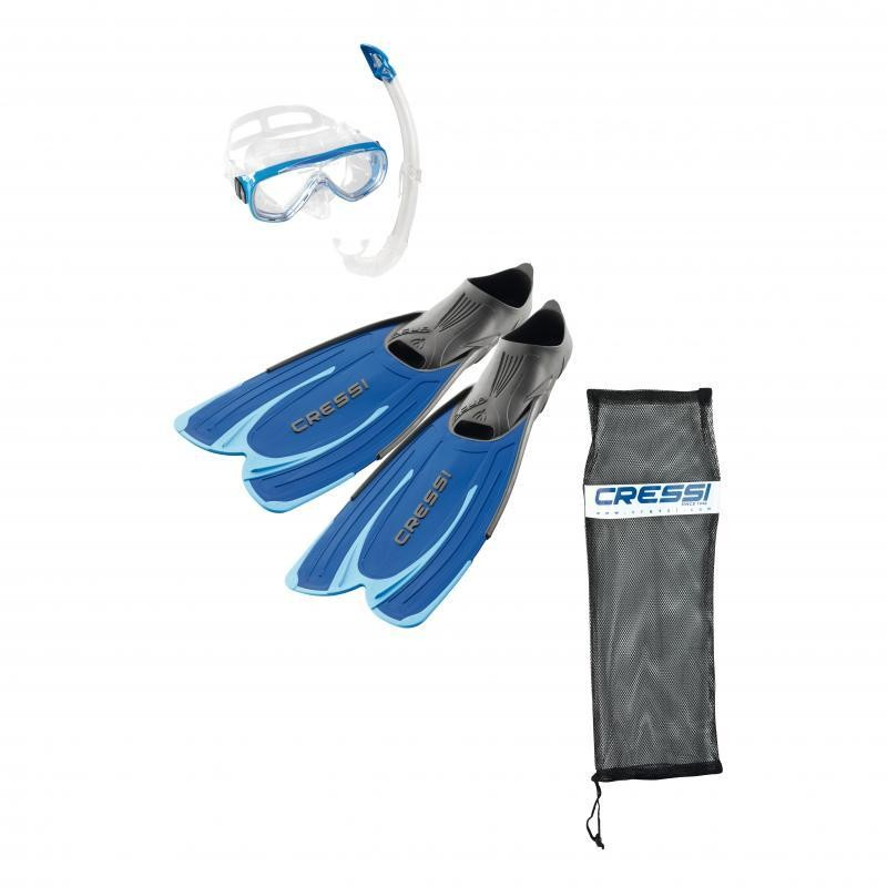 Kit Cressi Agua Blue