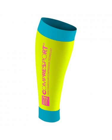 Pernera Compressport R2 Calf Sleeveles Fluo