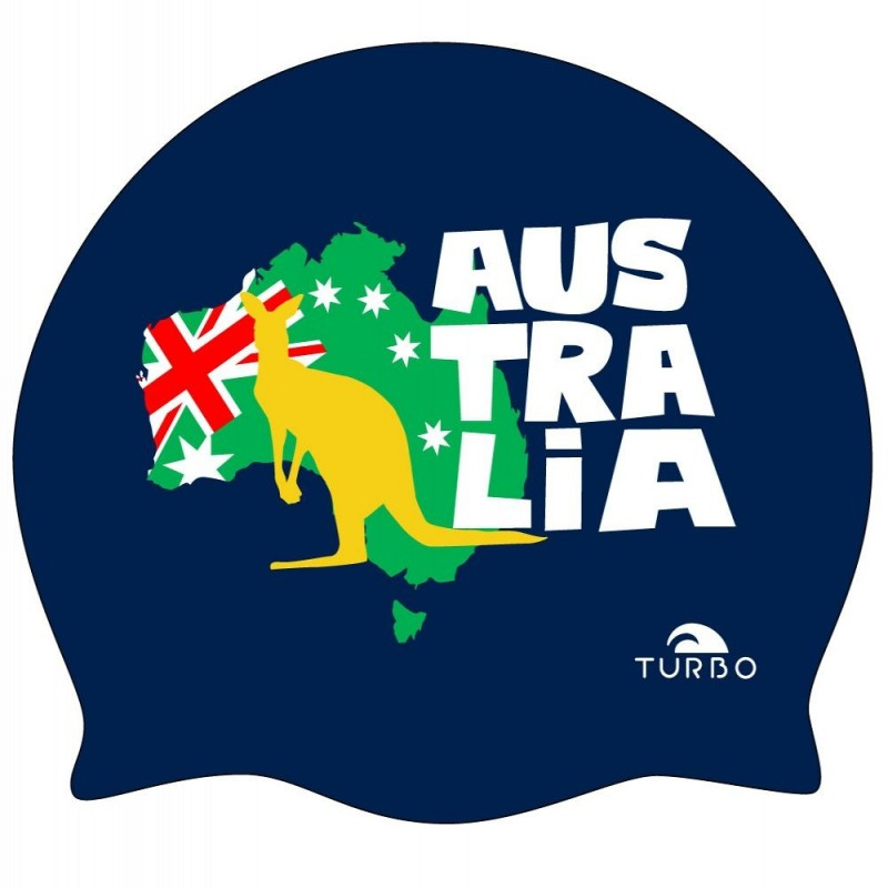 Gorro Turbo Australia Kagaroo Map